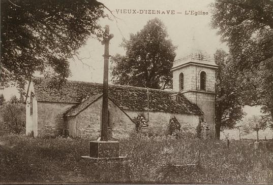 Vieu d'Izenave: Eglise côté Nord, alors couverte de lauzes