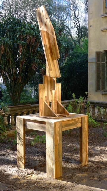 Big mago - Dimensions 3m avec base bois de récupération