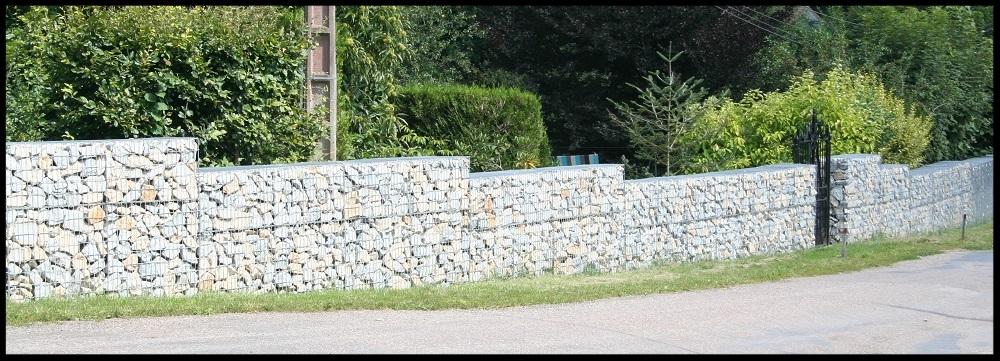 Réalisation d'une clôture en gabion Phase 3
