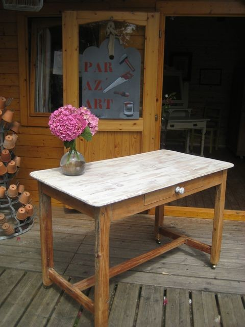 Table plateau blanc (125 €)