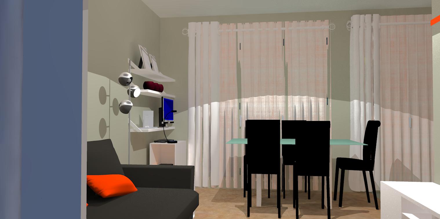 du mobilier moins envahissant et 3 espaces se dessinent