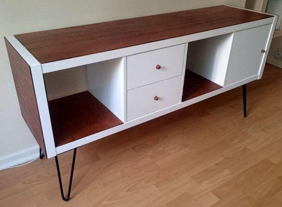 Un meuble TV vintage avec Kallax ( Ikéa)