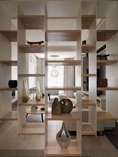 Cloison bibliothèque. Source Pinterest
