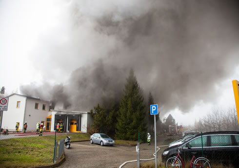 © Blaulichtreporter Erzgebirge, Kesselbrand Schneeberg