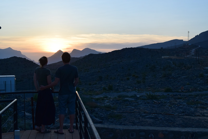 12 Days in Oman - Enjoying the Sunset at The View Hotel
