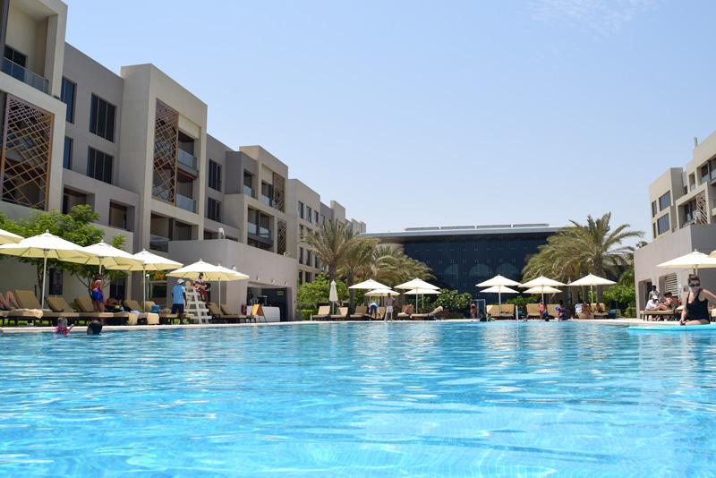 12 Days in Oman - Enjoying the Pool at The Kempinski Hotel