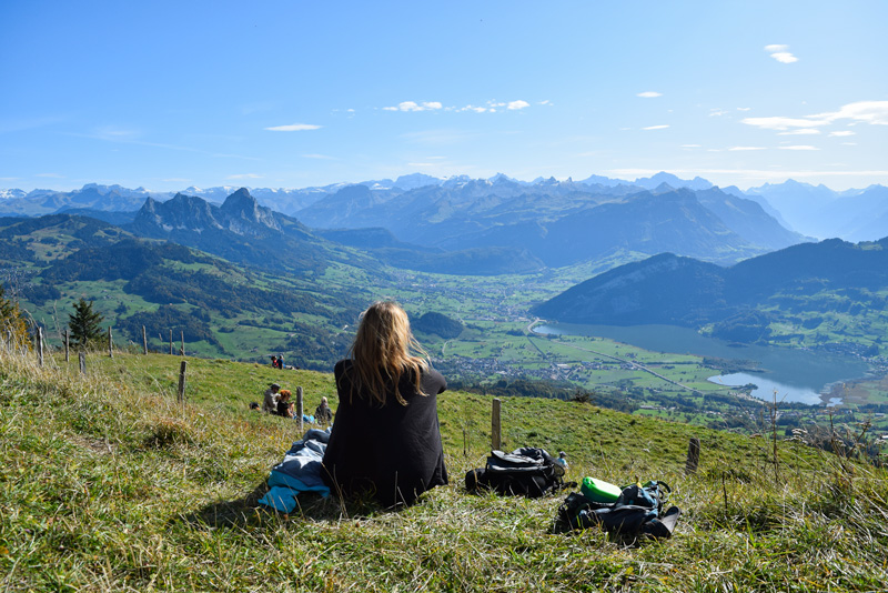 Travel Ideas for Pregnant Women - Hiking in Switzerland