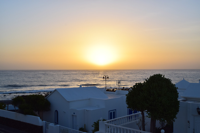 7 Days in Lanzarote - Watching the Sunrise from Our Balcony