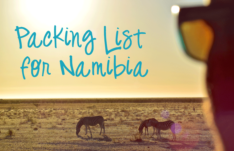 Packing List for Namibia