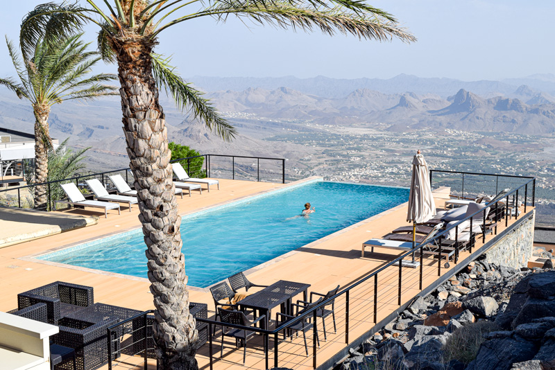 12 Days in Oman - Enjoying the Pool at The View Hotel