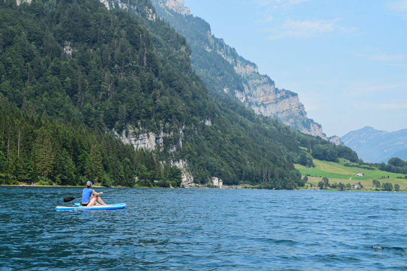 Travel Ideas for Pregnant Women - Stand Up Paddling in Switzerland