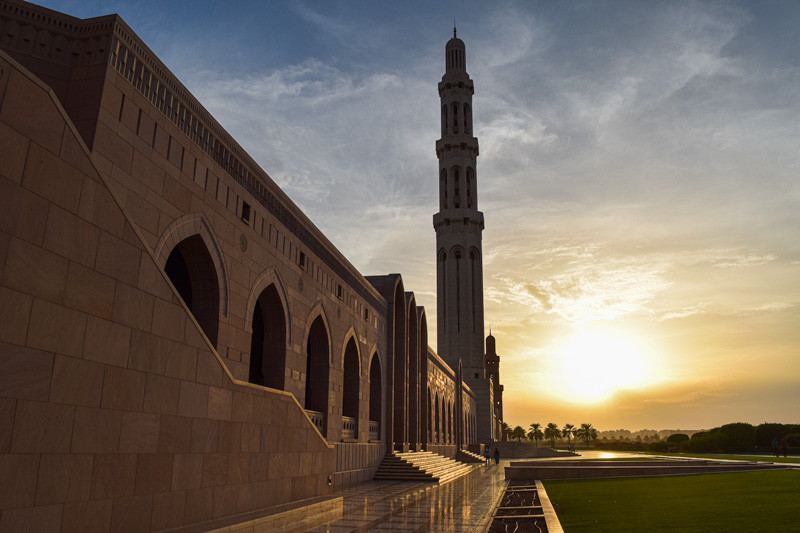 12 Days in Oman - Visiting the Sultan Qaboos Mosque in Muscat
