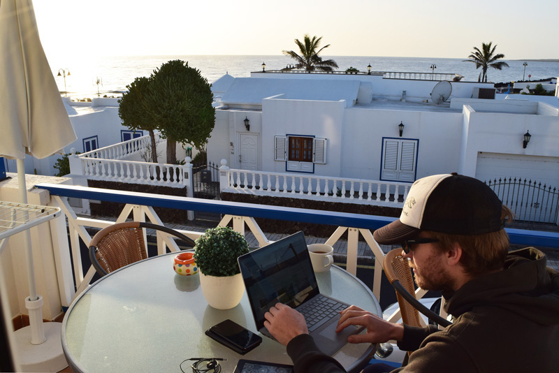 7 Days in Lanzarote - Our Balcony in Arrieta