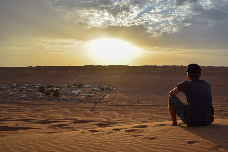 12 Days in Oman - Watching the Sunset over the Desert Nights Camp