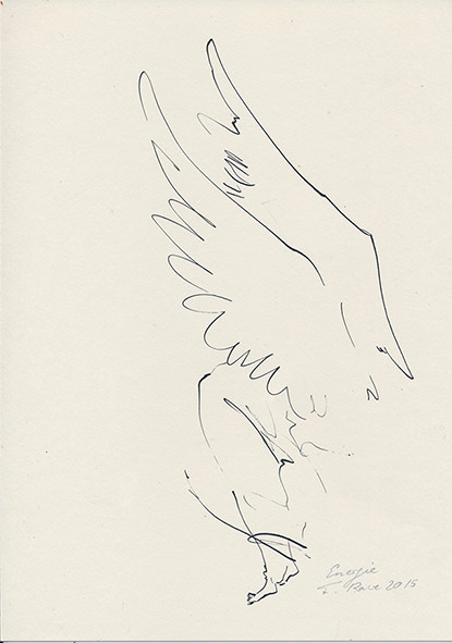 """""""Energie"""" Federzeichnung auf Papier"""