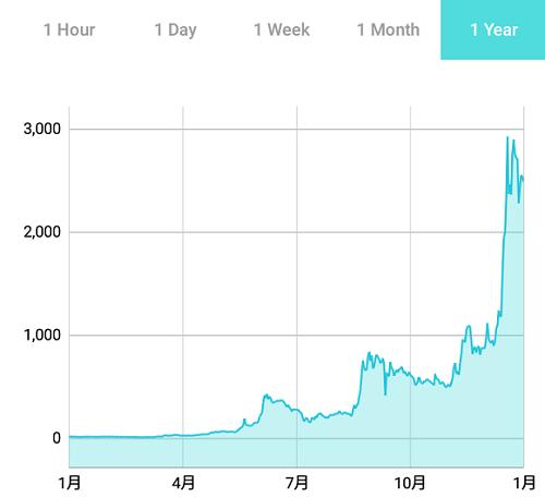 リスクの1年間のチャート