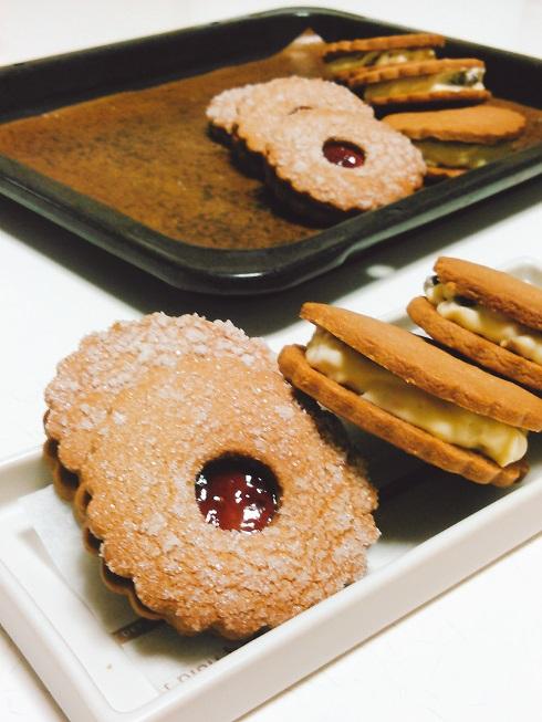 チーズサンドクッキー&リンツサブレ