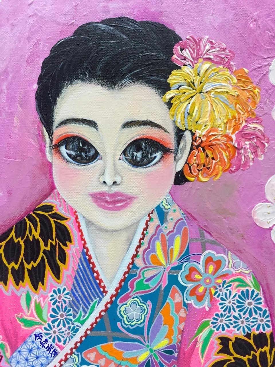 『 Happy new era~令和元年~ 』acrylic on canvas (53.0cm×53.0cm/S10)