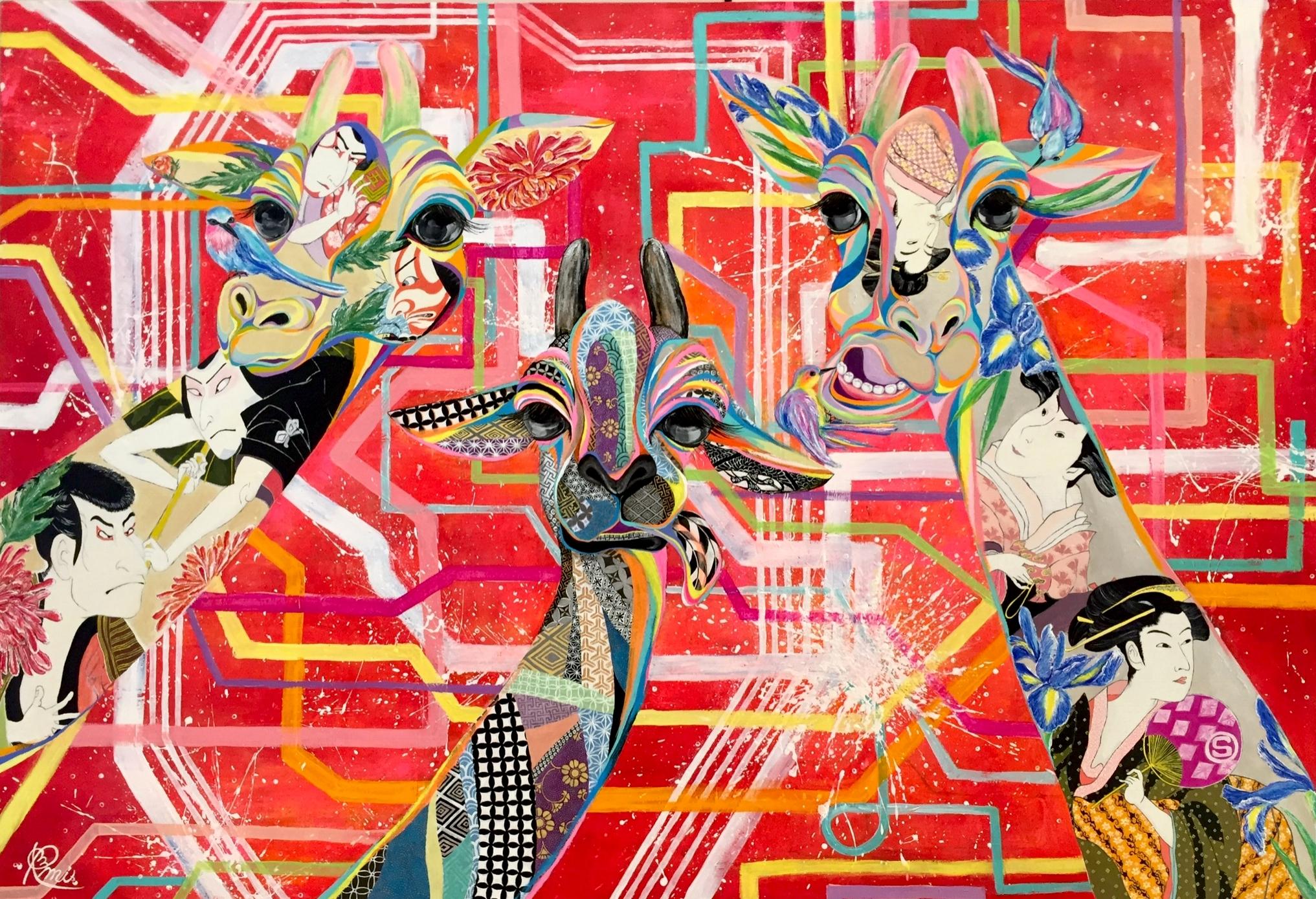 『Le lien』 acrylic on canvas ( 80.3×116.7cm/ P50号 )  銀座アストラ歯科クリニック納入作品