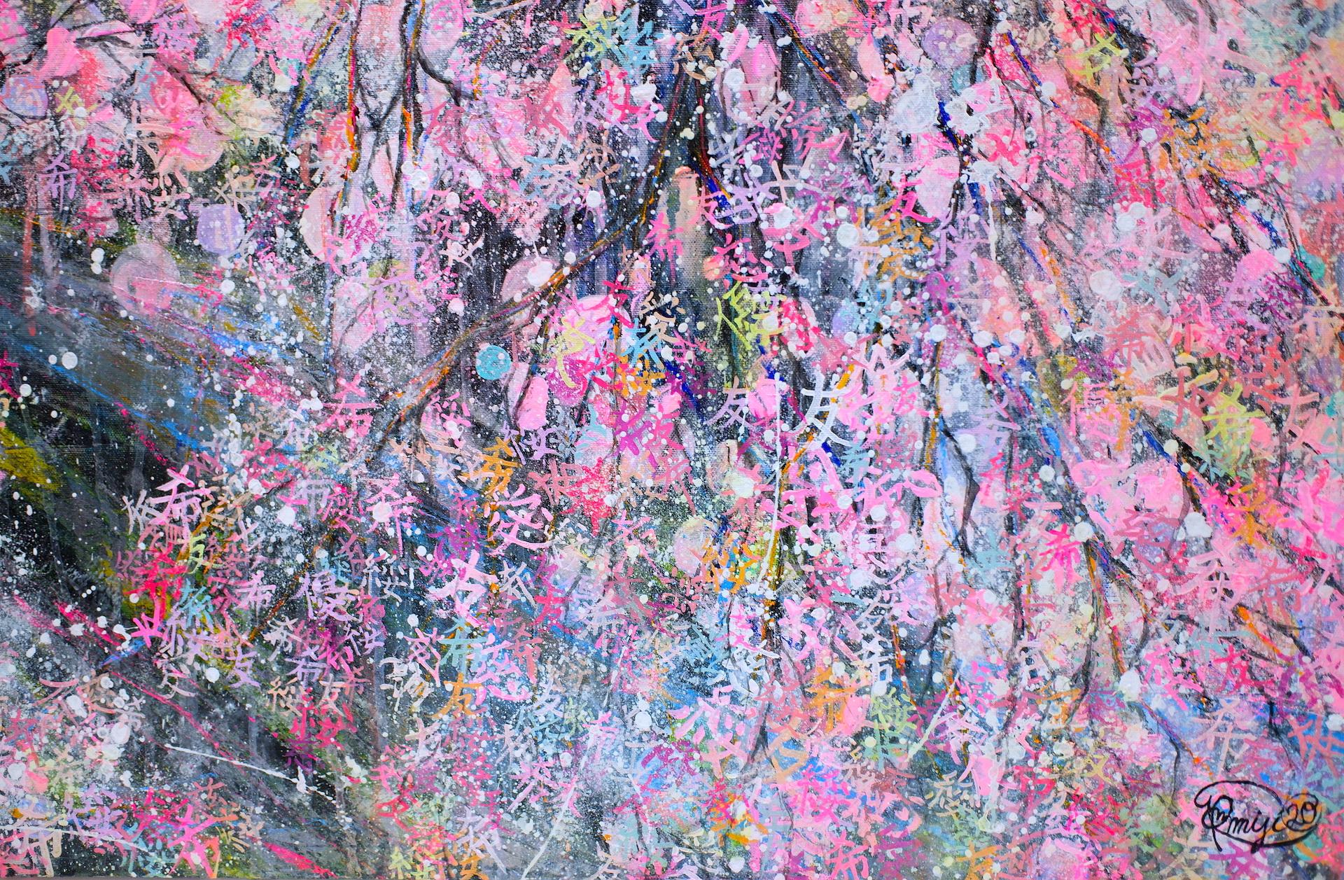 『 一陽来復〜After the rain, come the sun〜』acrylic on canvas (100.0×80.3cm/F40)