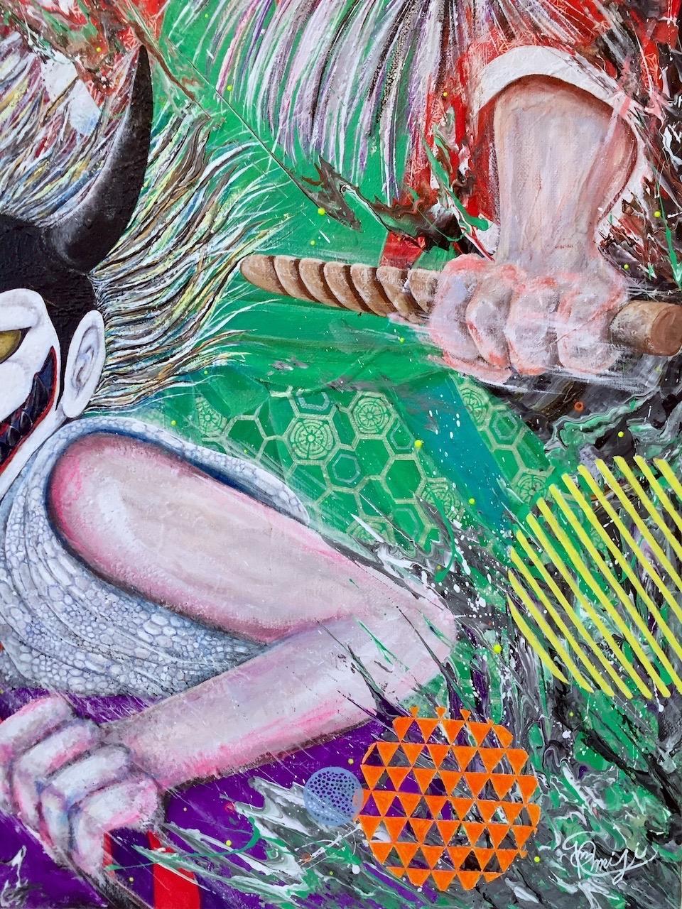 『 祭り囃子 〜bizarre festival〜』 acrylic on canvas (72.7cm×60.6cm/F20)