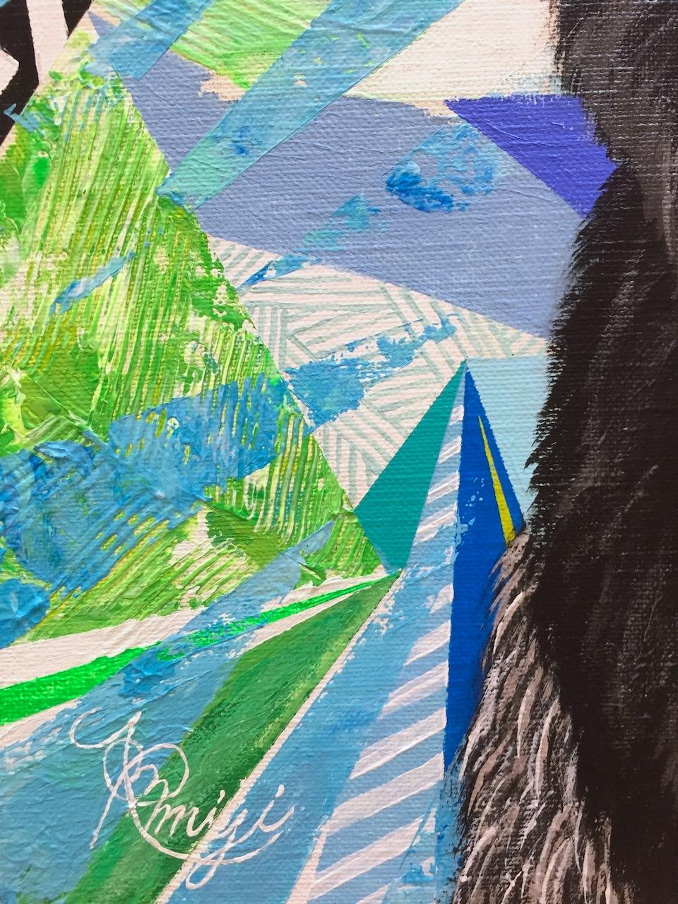 『 No title~commommarmoset~』 acrylic on canvas (41.0cm×41.0cm/S6)