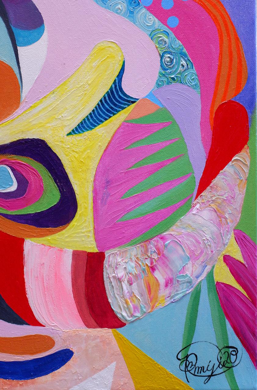 『 La donna 』oil, acrylic on canvas (45×35cm)