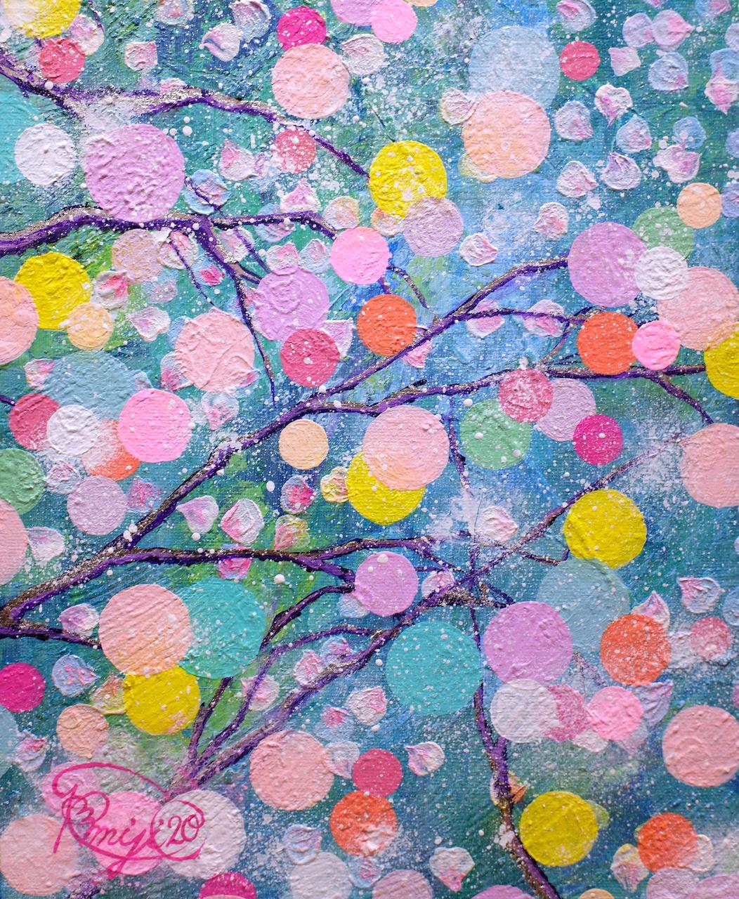 『  春宵一刻〜luscious midspring night〜 』acrylic on paper (53.0cm×45.5cm/F10)