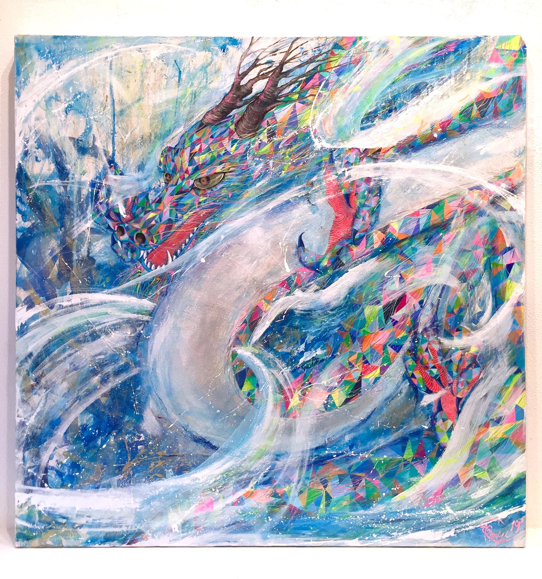 『 skyward』acrylic on canvas (80.3cm×80.3cm/S25)