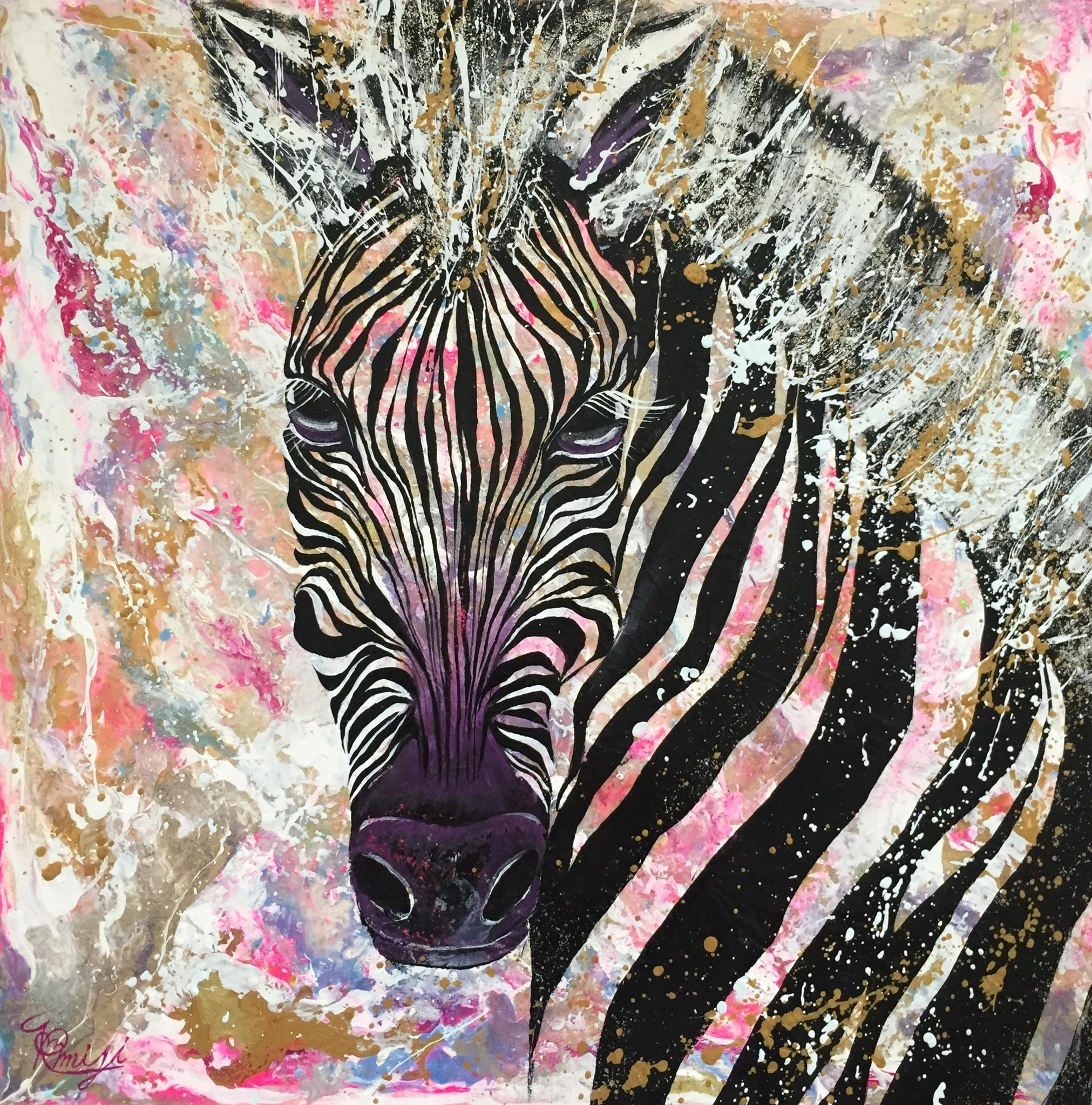 『parhelion』  acrylic on canvas ( 45.5×45.5cm/ S8号)    第24回 アートムーブコンクール ダイム賞受賞