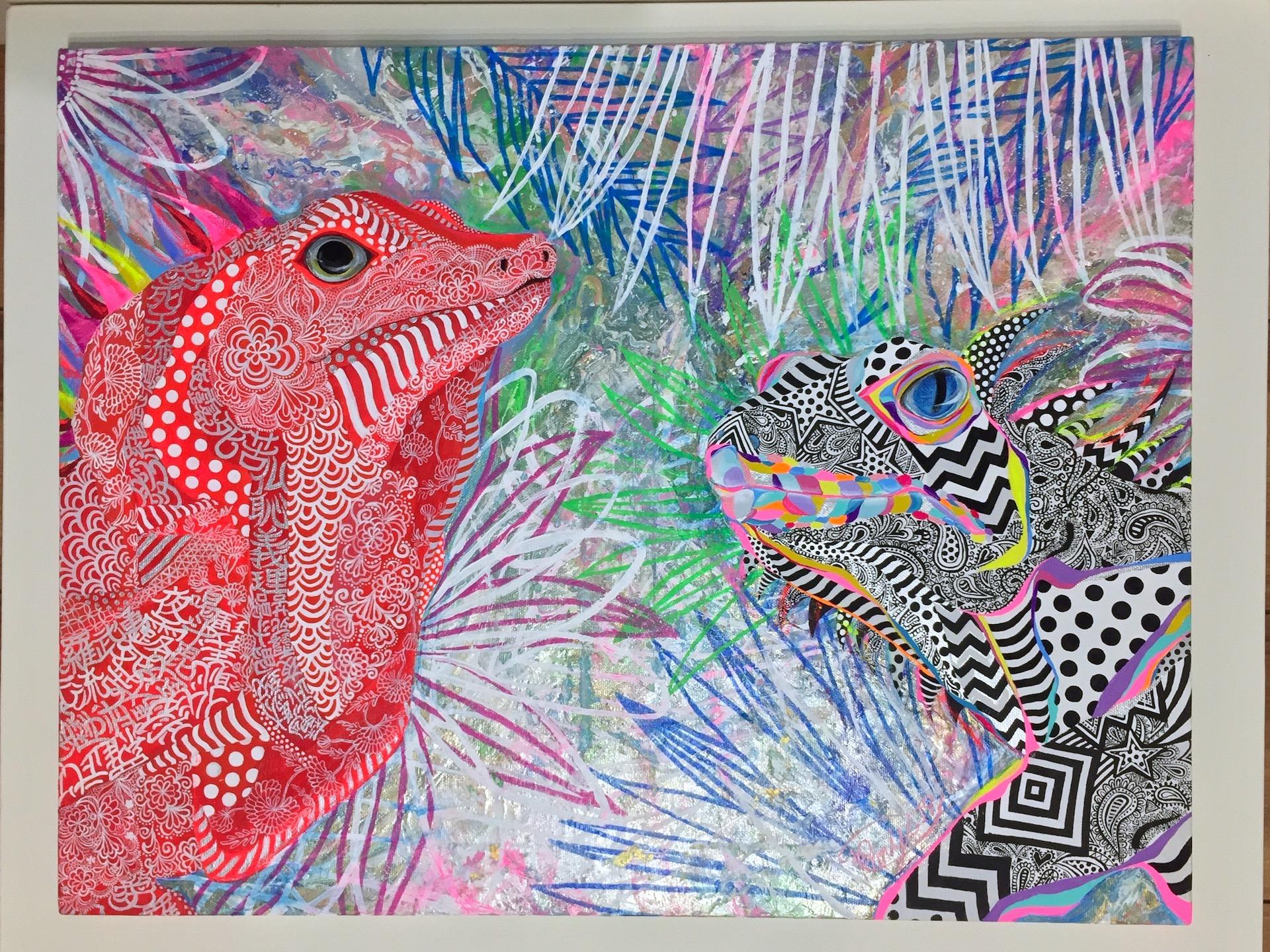 『 RAGAZZI 』acrylic on canvas (45.5cm×53.0cm/F10)