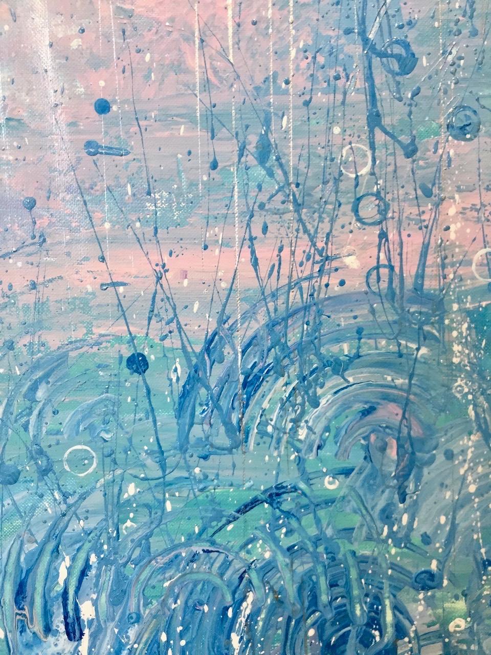 『 La Valse de pluie 』acrylic on canvas (53.0cm×53.0cm/S10)