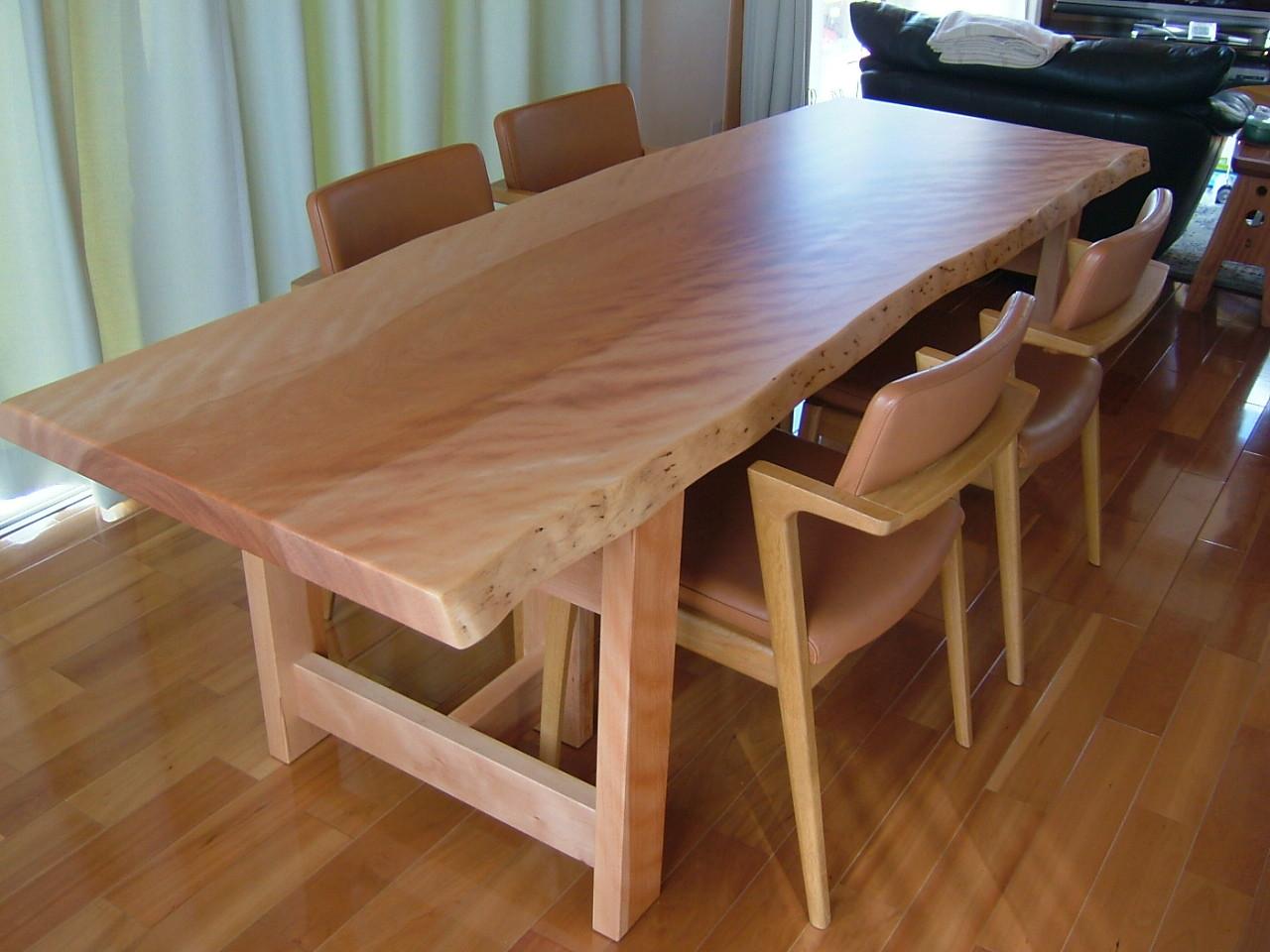 みずめさくら一枚板 ダイニングテーブル