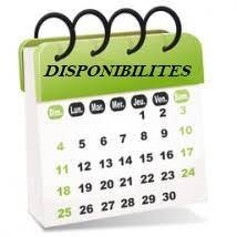 calendrier des disponibilites