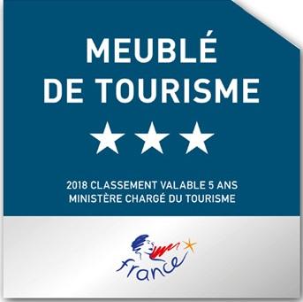 Meublé de tourisme 3 étoiles