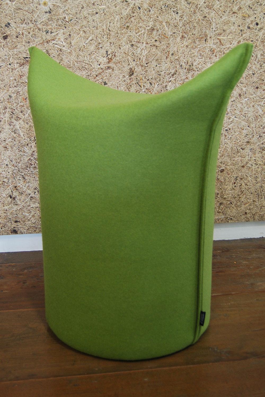 Zipfl-Hocker in Grün