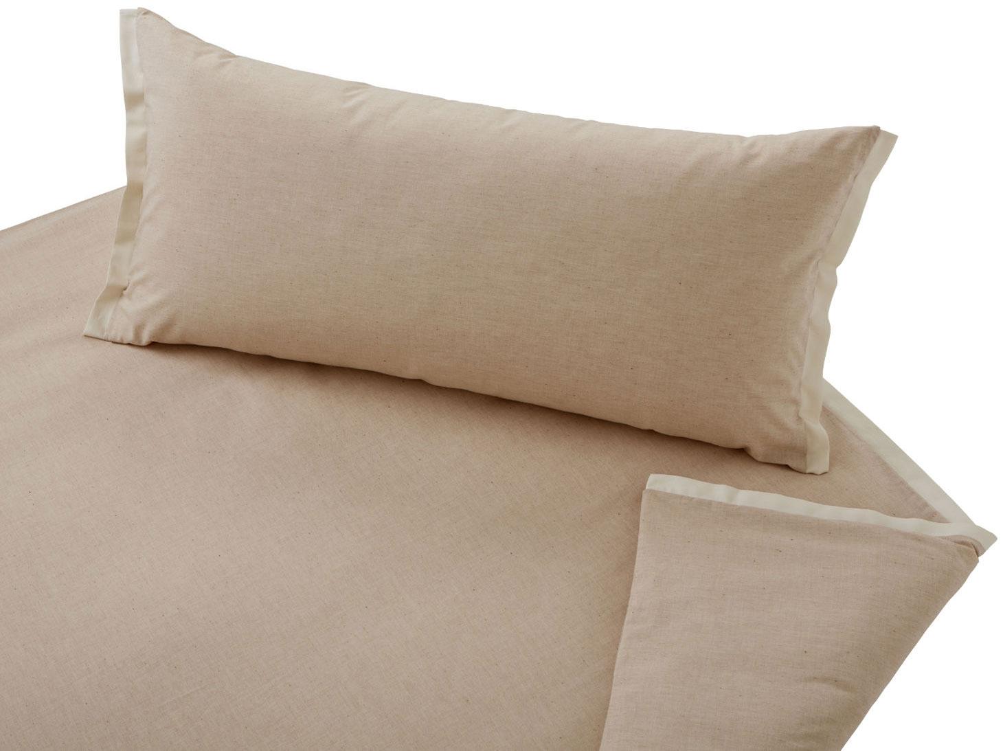 Bettwäsche Pur von Cotonea mit Stehsäumen am Bettbezug und Kissenbezug