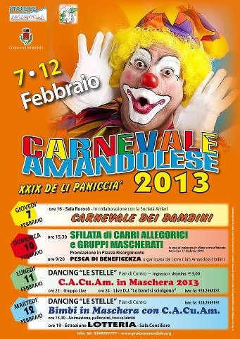 Carnevale for children: Costumed Parade, Masked Dance