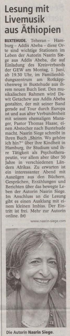 Buxtehuder Tageblatt, 30.05.2015