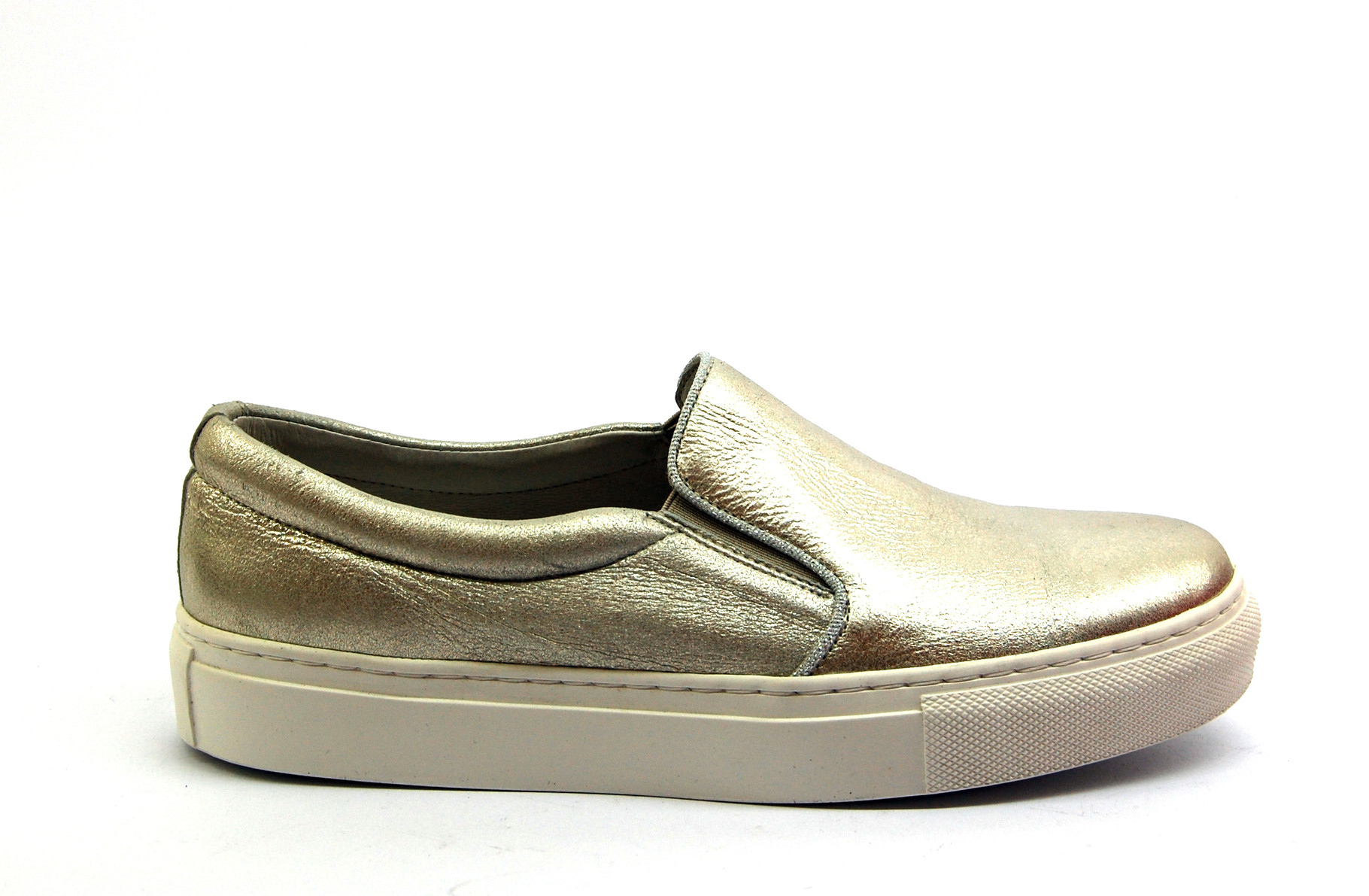 KMB Leder Slip-On Metallisiert