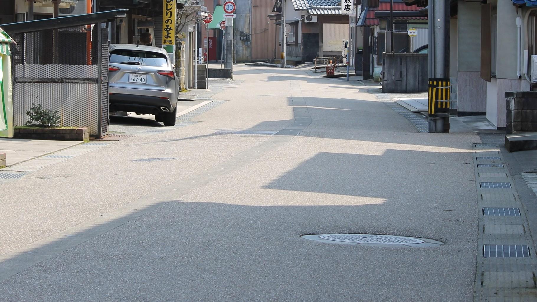 街道らしさを演出する高品質舗装