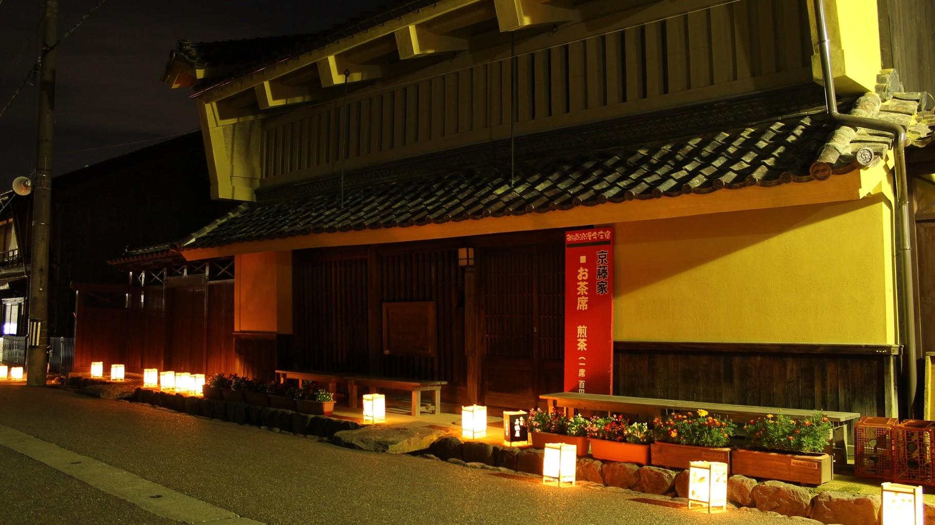 街道浪漫今庄宿前夜の灯篭ライトアップ企画