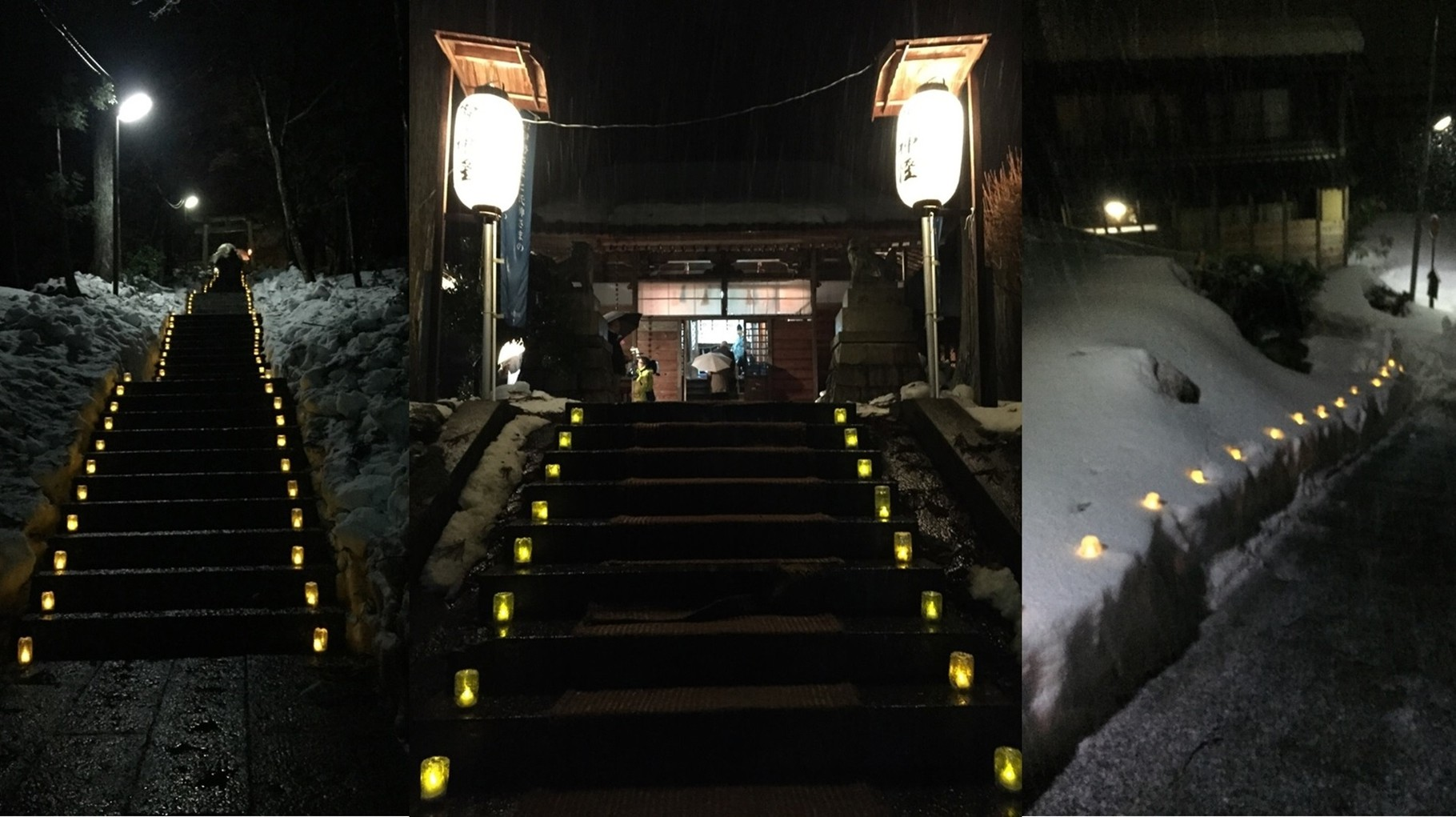 初詣時の灯篭ライトアップ企画