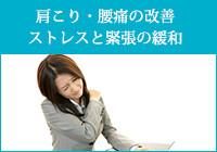 肩こり・腰痛の改善、ストレスと緊張の緩和