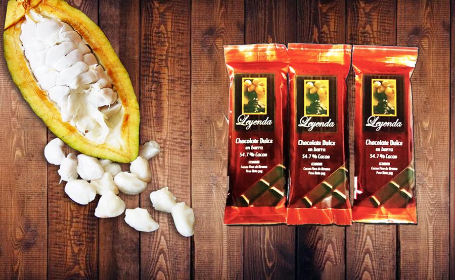 Chocolate en Barra al 54,7% . Presentación 30g