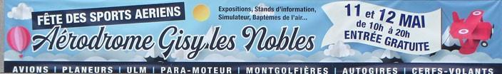 Aeroclub de Sens - Banderole Fete de sports aériens - 11 et Juin 2019