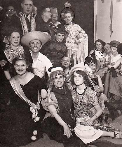 Carnaval chez Hester Carsten à La Haye (1951)