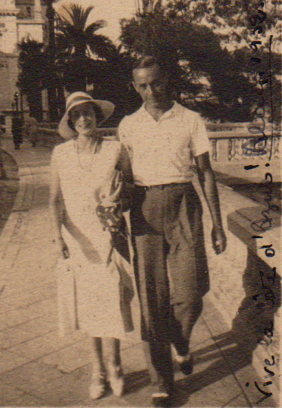 Julie with friend Alain in Monte Carlo (1925)