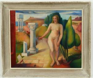 Eva, peinture à l'huile, 58x71 cm