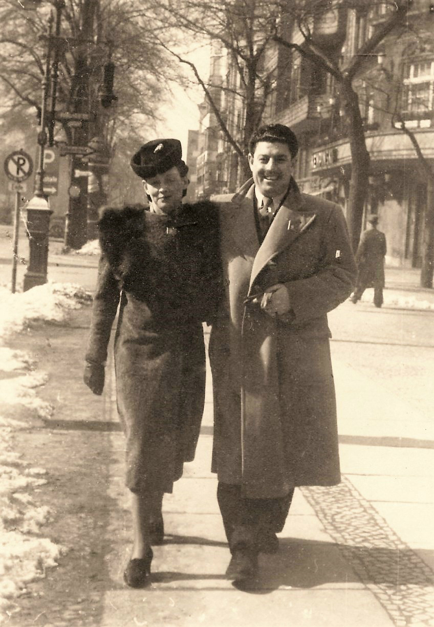 Julie with Yūnus Baḥrī in Berlin (March 1940)